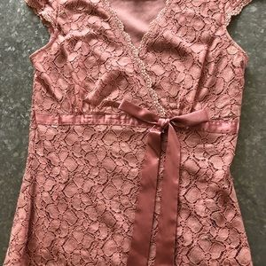 Pink lace top! Sz S